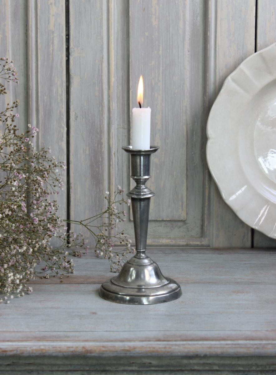 Nice old Swedish pewter candlestick.